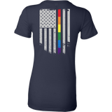 LGBT - LGBT Thin Line - Woman Short Sleeve T Shirt - TL01211WS