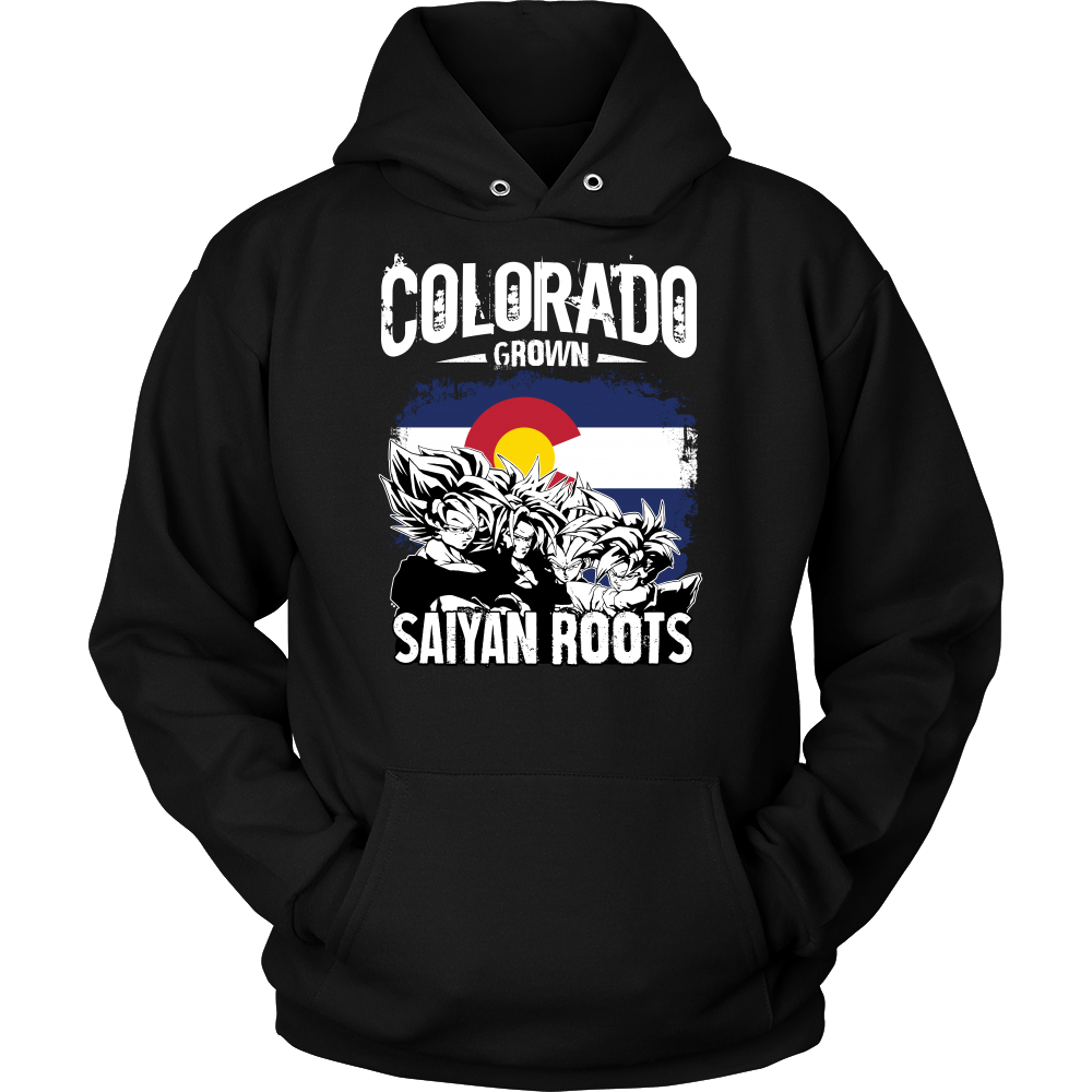 Super Saiyan Colorad Grown Saiyan Roots Unisex Hoodie T shirt -TL00151HO