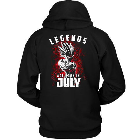 Super Saiyan - Lengends all born in july - Unisex Hoodie T Shirt - TL01033HO