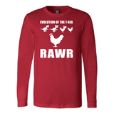 Dinosaur - Evolution Of The T-Rex Rawr - Long Sleeve T Shirt - TL00858LS - The TShirt Collection