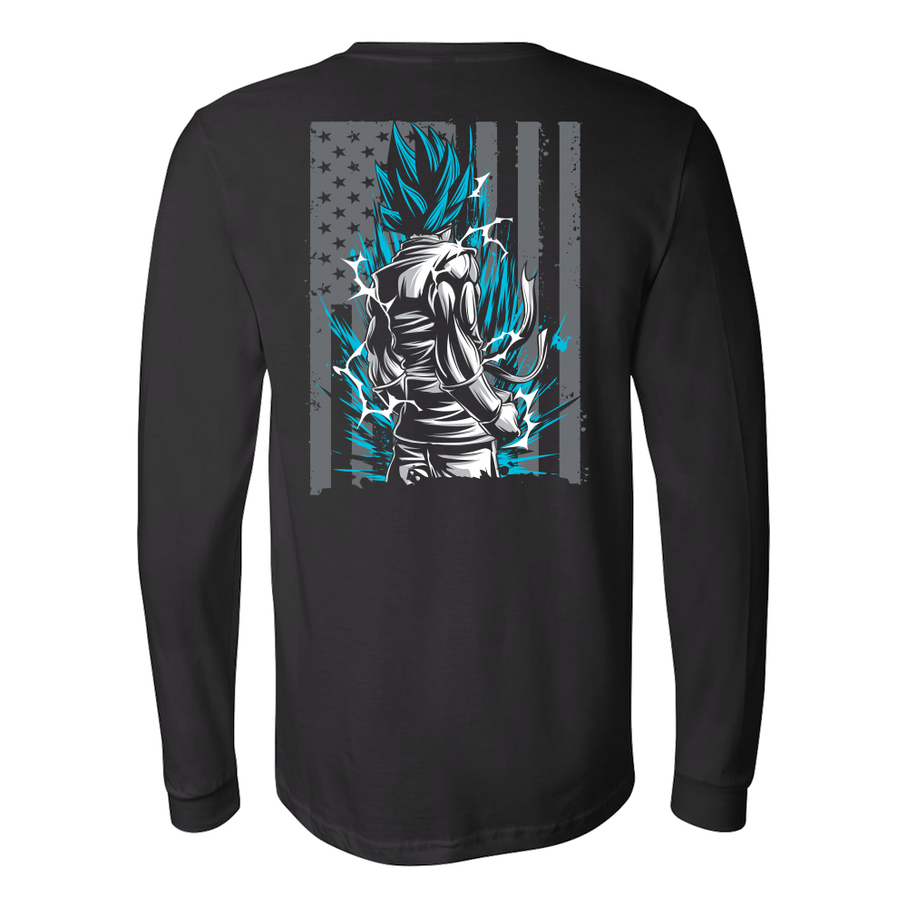 American Super Saiyan God Blue Goku Long Sleeve T shirt - TL00002LS - The TShirt Collection
