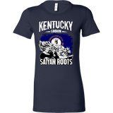 Super Saiyan Kentucky Grown Saiyan Roots Woman Short Sleeve T Shirt - TL00152WS