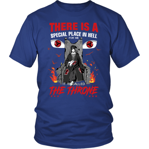 Naruto - Itachi Uchiha Throne - Men Short Sleeve T Shirt - TL01253SS