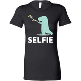 Dinosaur - Selfie - Woman Short Sleeve T Shirt - TL00860WS - The TShirt Collection