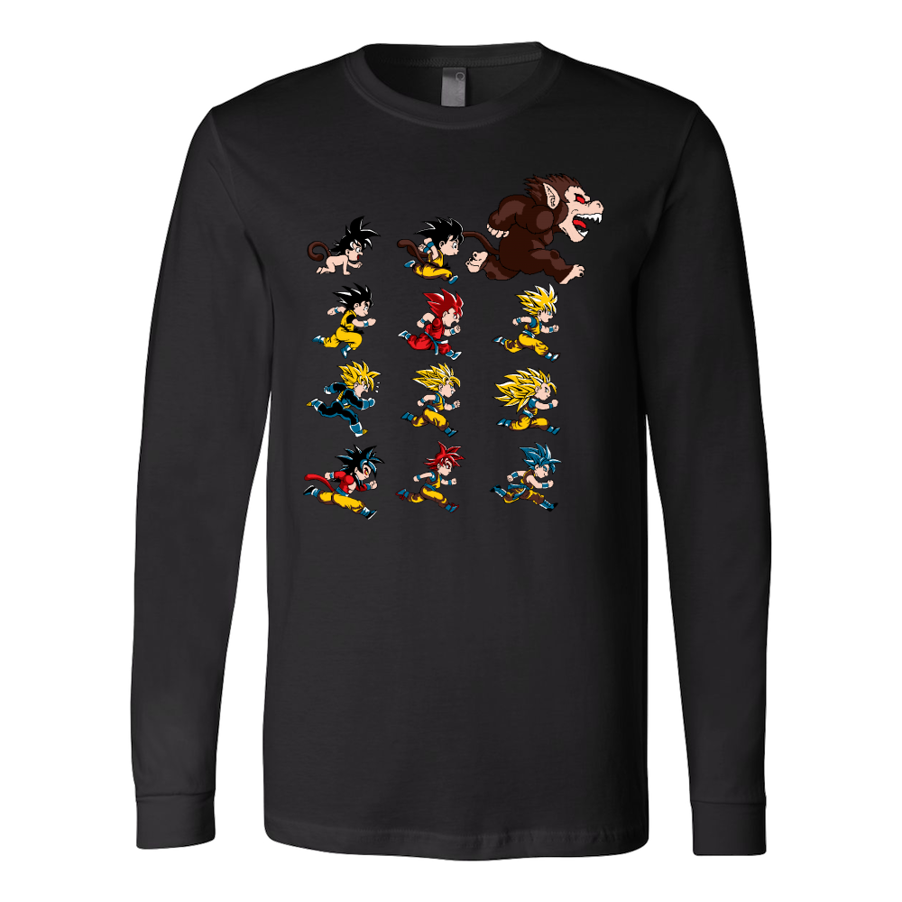 Super Saiyan Long Sleeve T shirt - The Evolutions of Goku - TL00041LS