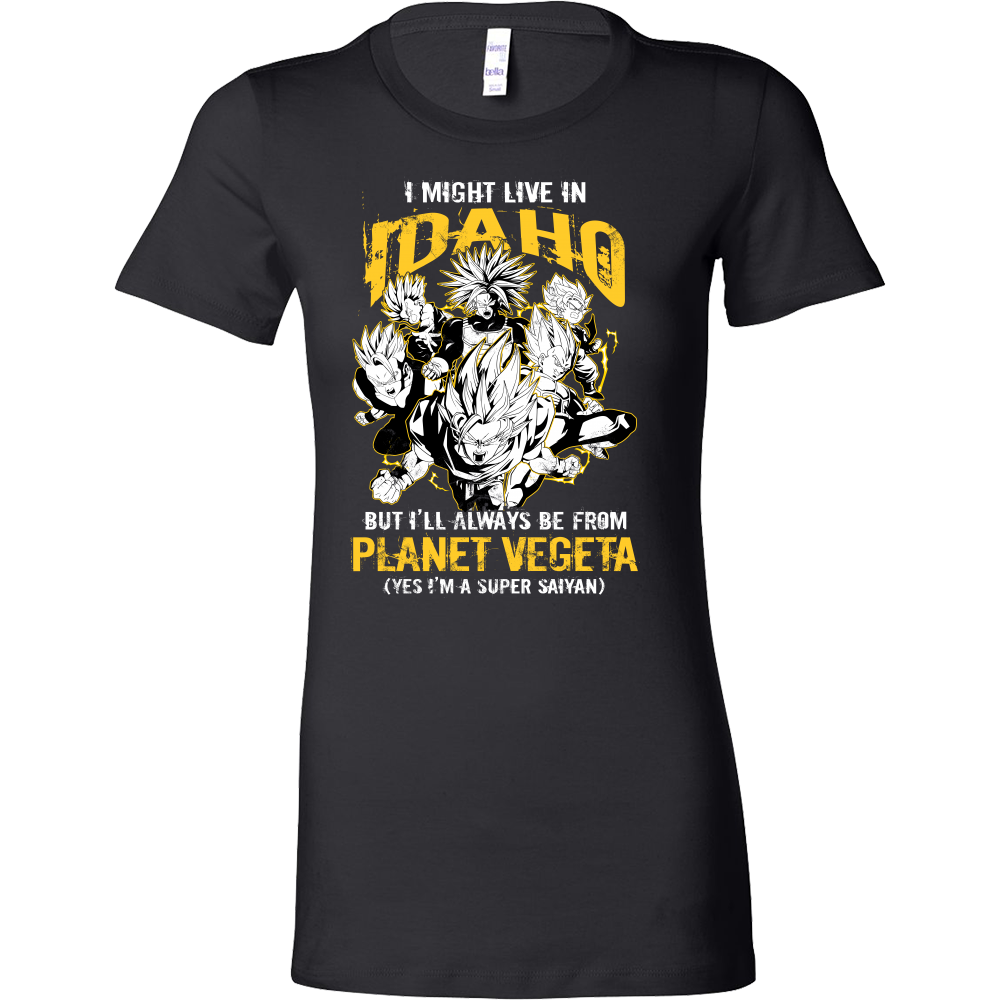 Super Saiyan I May Live In Idaho Woman Short Sleeve T shirt - TL00101WS
