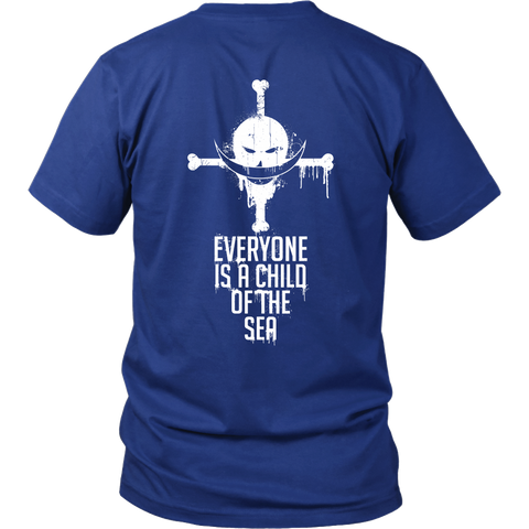One Piece - Everyone is a child of the sea - Men Short Sleeve T Shirt - TL01002SS