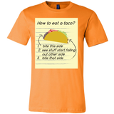 Taco mexican how to eat a taco Men Short Sleeve Funny T Shirt - TL00569SS