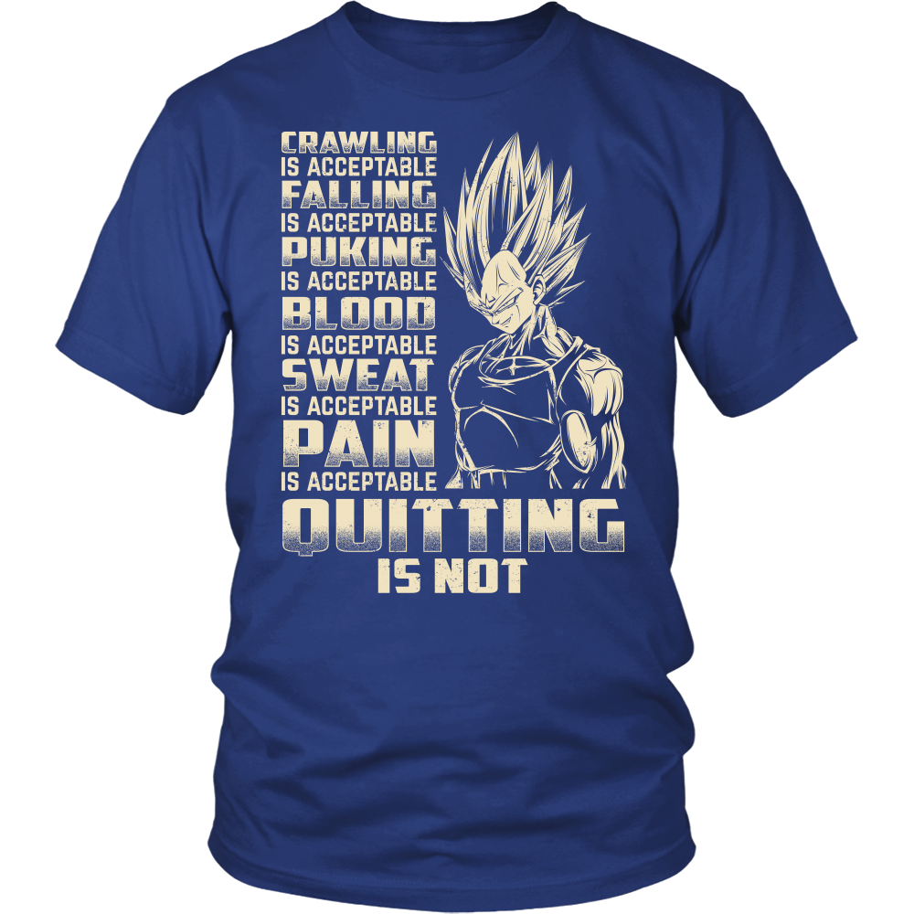 Super Saiyan Majin Vegeta Pain Is Acceptable Quitting Is Not Men Short Sleeve T Shirt - TL00561SS