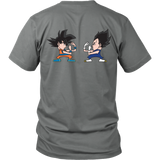 Super Saiyan - Saiyans Fight  - Back - Men Short Sleeve T Shirt - TL01341SS