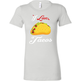 Taco mexican i love tacos Woman Short Sleeve Funny T Shirt - TL00591WS