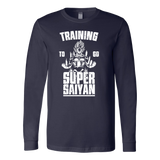 Super Saiyan - Training to go super saiyan - Unisex Long Sleeve T Shirt - TL01163LS