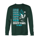 Super Saiyan Vegeta Pain Is Acceptable Quitting Is Not Men Sweatshirt T Shirt - TL00560SW