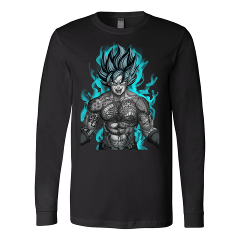 Super Saiyan - Goku with tattoo - Unisex Long Sleeve T Shirt - TL01327LS