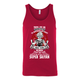 Super Saiyan Unisex Tank Top T Shirt - GOKU TRAINING TO GET YOUR TITLE - TL00045TT