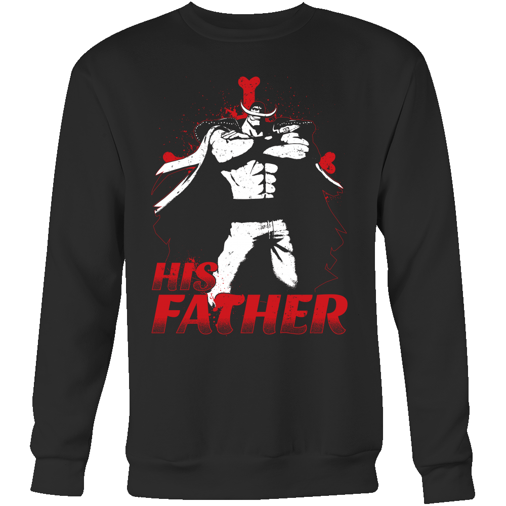One Piece White Beard Father and Son Sweatshirt T shirt - TL00515SW