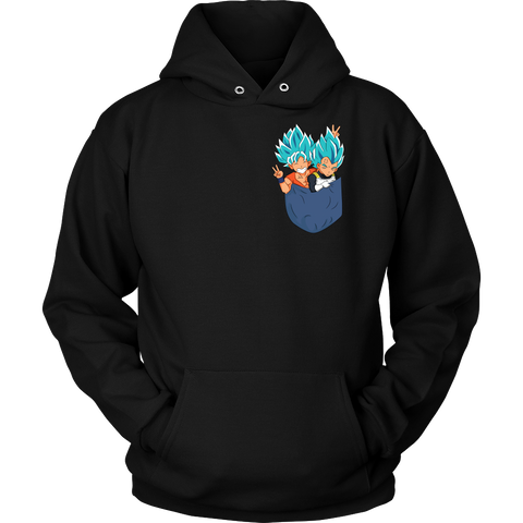 Super Saiyan - Saiyan god in pocket - Unisex Hoodie T Shirt - TL01340HO