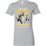 Super Saiyan I May Live in Louisiana Woman Short Sleeve T shirt - TL00077WS