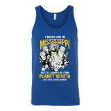 Super Saiyan I May Live in Mississippi Unisex Tank Top T Shirt - TL00093TT