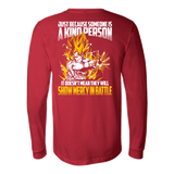 Super Saiyan Goku Show Mercy in Battle Long Sleeve T shirt - TL00440LS