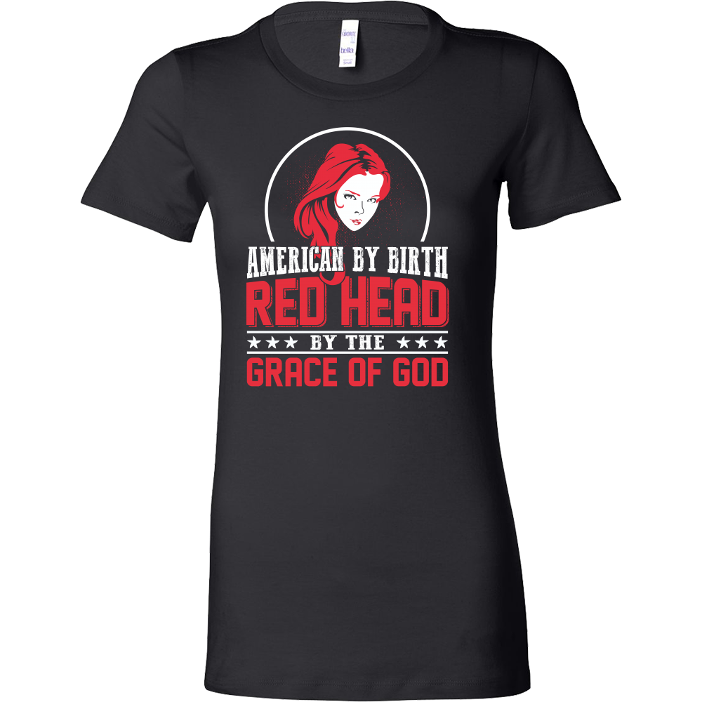 Hobbies - American by birth red head by the grace of god - women short sleeve t shirt - TL00838WS