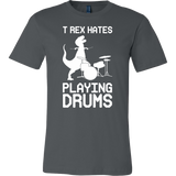 Dinosaur - T-Rex Hates Playing Drums - Men Short Sleeve T Shirt - TL00861SS - The TShirt Collection