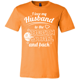 I Love My Husband To The Death Star And Back Men Short Sleeve T Shirt - TL00642SS