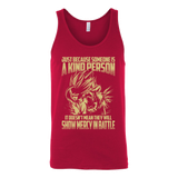 Super Saiyan Gohan Show Mercy in Battle Unisex Tank Top T Shirt - TL00446TT