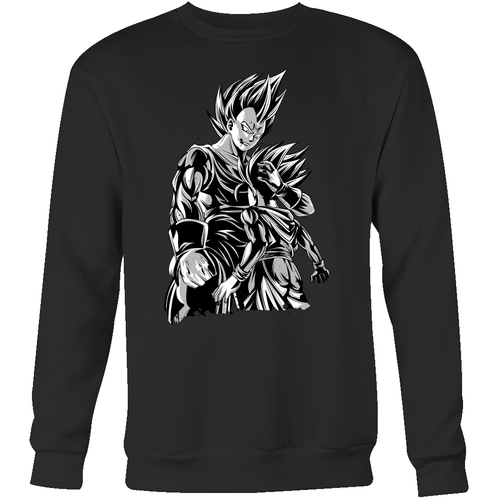 Super Saiyan Majin Vegeta and Trunks Sweatshirt T shirt - TL00218SW
