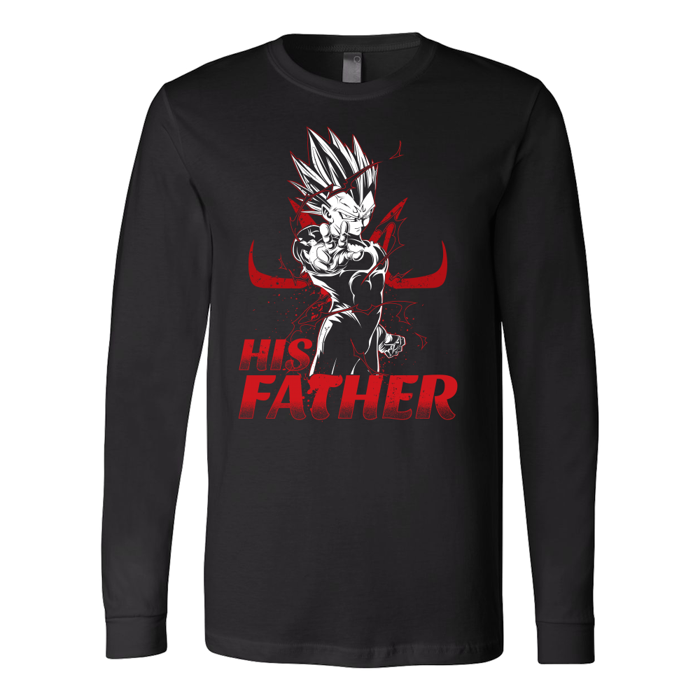 Super Saiyan Majin Vegeta Dad Long Sleeve T shirt - TL00489LS