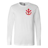 Super Saiyan Long Sleeve T shirt - Red Vegeta Saiyan Crest - TL00013LS