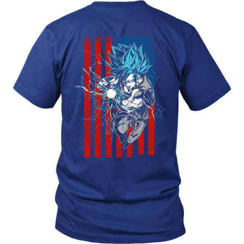 Super Saiyan - Goku Flag - Men Short Sleeve T Shirt - TL01191SS
