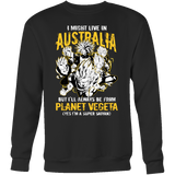 Super Saiyan I May Live In Australia Sweatshirt T shirt - TL00108SW