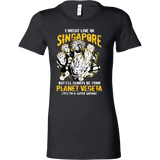 Super Saiyan I May Live in Singapore Woman Short Sleeve T Shirt - TL00114WS