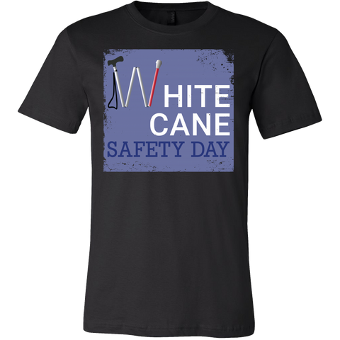 White Cane Safety Day Men Short Sleeve T Shirt - TL00692SS