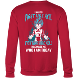 Super Saiyan - Vegeta God Blue Fight Like Hell - Unisex Sweatshirt T Shirt - TL00816SW