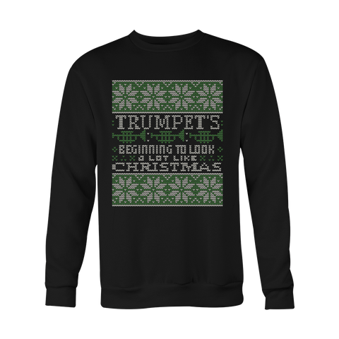 Christmas Sweatshirt -Trumpet Tacky Beginning to look a lot like christmas - Unisex Sweatshirt T Shirt - TL01000SW