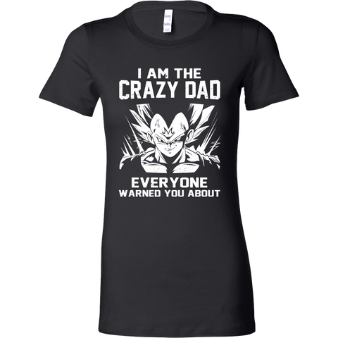 Saiyan - Iam The Crazy Dad - Woman Short Sleeve T Shirt - TL01227WS - Front