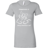 Happiness Is Being Loved By A Cat Woman Short Sleeve T Shirt - TL00635WS
