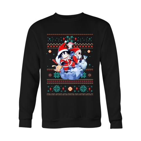 Super Saiyan - Goku kid Christmas Ugly Sweater - Unisex Sweatshirt T Shirt - TL01080SW