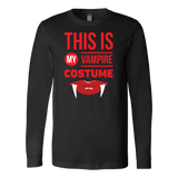 Halloween - This is my vampire costume - Men Long Sleeve T Shirt - TL00797LS