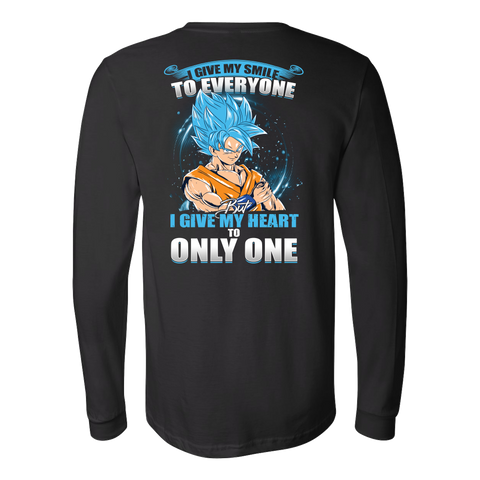 Super Saiyan - Goku SSj Blue Smiles - Unisex Long Sleeve T Shirt - TL01172LS