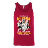 Super Saiyan I May Live in Nevada Unisex Tank Top T Shirt - TL00087TT