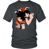Super Saiyan Goku And Luffy Men Short Sleeve T Shirt - TL00538SS