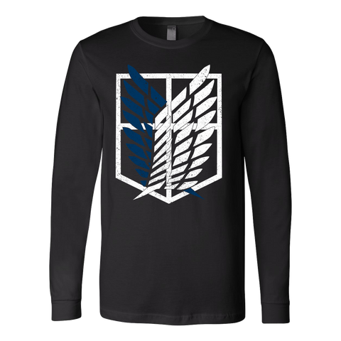 Attack on titan - survey corps logo - Unisex Long Sleeve T Shirt - TL01192LS