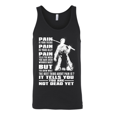 One Piece - Roronoa Zero Pain is your friend , pain is your ally - Unisex Tank Top - TL01369TT