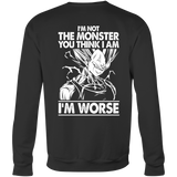 Super Saiyan Majin Vegeta I'm Not Monster Sweatshirt T shirt -TL00051SW