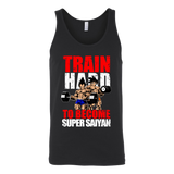 Super Saiyan Vegeta and Goku Gym Train Hard Unisex Tank Top T Shirt - TL00442TT