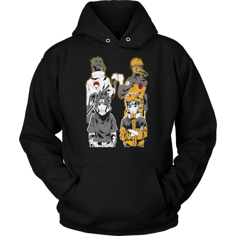 Naruto - Naruto and Sasuke Best Friend - Unisex Hoodie T Shirt - TL01141HO