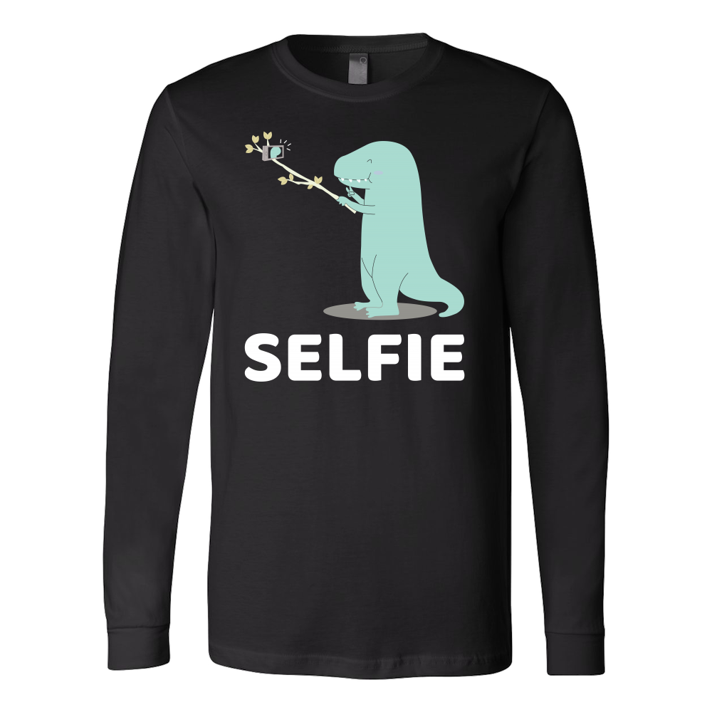 Dinosaur - Selfie - Long Sleeve T Shirt - TL00860LS - The TShirt Collection